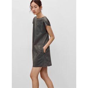 WILFRED FREE   Nori Vegan Suede Dress Grey Medium Aritzia